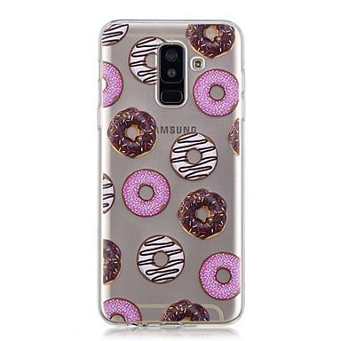 غطاء من أجل Samsung Galaxy A6 (2018) / A6+ (2018) / A3 (2017) شفاف / نموذج غطاء خلفي مأكولات ناعم TPU