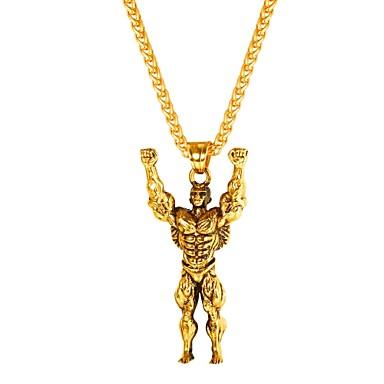 رجالي قلائد الحلي ستايل سنغافورة خلاق غلو موضة الفولاذ المقاوم للصدأ ذهبي أسود فضي 55 cm قلادة مجوهرات 1PC من أجل هدية مناسب للبس اليومي