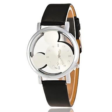 نسائي ساعة المعصم كوارتز جلد اصطناعي أسود / الأبيض / أزرق ساعة كاجوال محبوب مماثل سيدات كرتون موضة - أحمر زهري أسود / أبيض