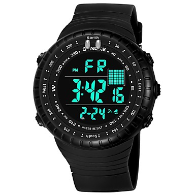 SYNOKE رجالي ساعة رياضية ساعة رقمية رقمي جلد اصطناعي أسود / رمادي / أزرق داكن 50 m مقاوم للماء رزنامه الكرونوغراف رقمي موضة - أزرق داكن رمادي أخضر / قضية / طرد كبير