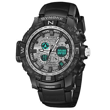 SYNOKE رجالي ساعة رياضية ساعة رقمية ياباني رقمي جلد اصطناعي أسود 50 m مقاوم للماء رزنامه الكرونوغراف تناظري-رقمي موضة - أسود أخضر أزرق / قضية