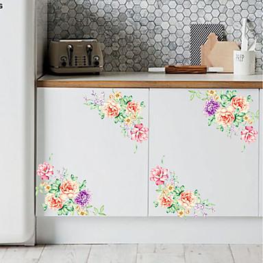 لواصق حائط مزخرفة - لواصق حائط الطائرة الأزهار / النباتية داخلي / قابل للنقل