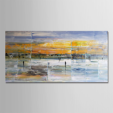 economico Arte muraria-Hang-Dipinto ad olio Dipinta a mano - Astratto Modern Senza telaio interno / Tela arrotolata