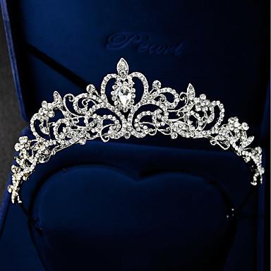 ieftine Bijuterii de Păr-Pentru femei Oficial Elegant Ștras Argilă Aliaj Zirconiu Cubic Tiare fruntea Crown Nuntă Petrecere