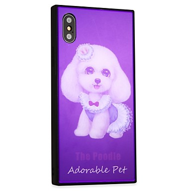 per iPhone 8 iPhone Vetro Resistente cagnolino Custodia temperato disegno 06787633 Fantasia X retro Per Per Plus iPhone Con iPhone 8 X Apple OO6xn