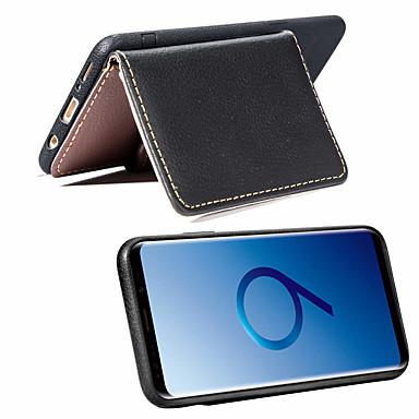 غطاء من أجل Samsung Galaxy S9 / S9 Plus / S8 Plus محفظة / حامل البطاقات / مع حامل غطاء خلفي لون سادة ناعم جلد PU / نحيف جداً