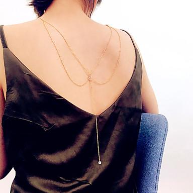 نسائي مجوهرات الجسم 35 cm سلسلة الجسم / سلسلة البطن ذهبي / فضي سيدات / رومانسي / موضة لؤلؤ تقليدي / الحديد مجوهرات من أجل نادي / بيكيني الصيف