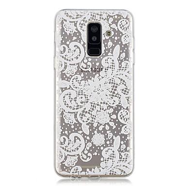 غطاء من أجل Samsung Galaxy A6 (2018) / A6+ (2018) / A3 (2017) شفاف / نموذج غطاء خلفي الطباعة الدانتيل ناعم TPU