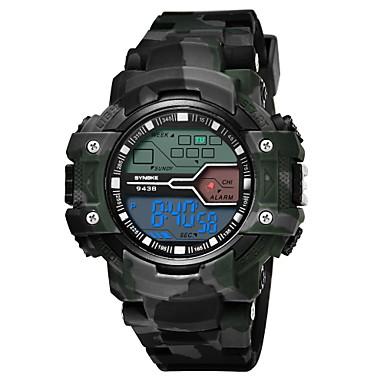זול שעוני גברים-SYNOKE בגדי ריקוד גברים שעוני ספורט שעונים צבאיים שעון דיגיטלי דיגיטלי דמוי עור מרופד אפור / בריכה / ג'ייד 30 m עמיד במים לוח שנה כרונוגרף דיגיטלי אופנתי - אפור כחול הסוואה ירוקה / זוהר בחושך