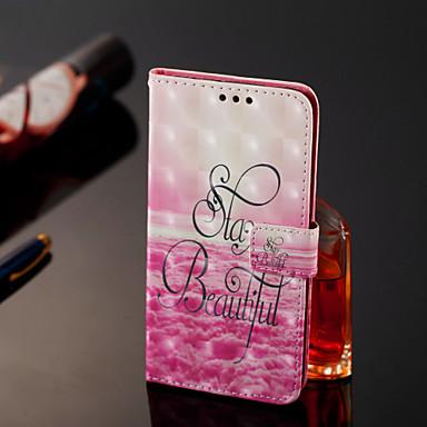 غطاء من أجل Samsung Galaxy J8 / J7 Duo / J2 PRO 2018 محفظة / حامل البطاقات / قلب غطاء كامل للجسم جملة / كلمة قاسي جلد PU