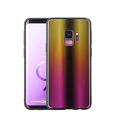 غطاء من أجل Samsung Galaxy S9 / S9 Plus / S8 Plus تصفيح / مرآة غطاء خلفي لون متغاير قاسي زجاج مقوى