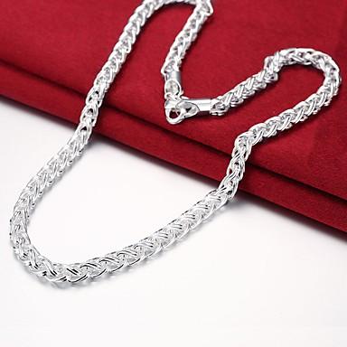 voordelige Heren Ketting-Heren Kettingen Eenvoudig Standaard Koper Verzilverd Zilver 50 cm Kettingen Sieraden 1pc Voor Dagelijks Werk
