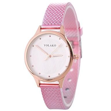 Xu™ نسائي ساعة المعصم كوارتز جلد اصطناعي أسود / الأبيض / أزرق تصميم جديد ساعة كاجوال بديع مماثل سيدات كاجوال موضة - أحمر أزرق زهري سنة واحدة عمر البطارية