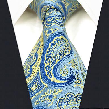 economico Abbigliamento uomo-Per uomo Da ufficio / Essenziale Cravatta Motivo cashemire / Jacquard