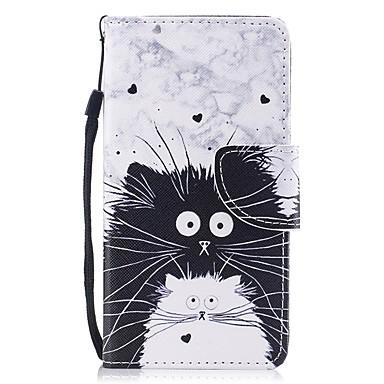 غطاء من أجل Samsung Galaxy J5 (2017) محفظة / حامل البطاقات / قلب غطاء كامل للجسم قطة قاسي جلد PU
