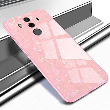 voordelige Huawei Mate hoesjes / covers-hoesje Voor Huawei Mate 10 / Mate 10 pro / Mate 9 Patroon Achterkant Marmer Hard Gehard glas