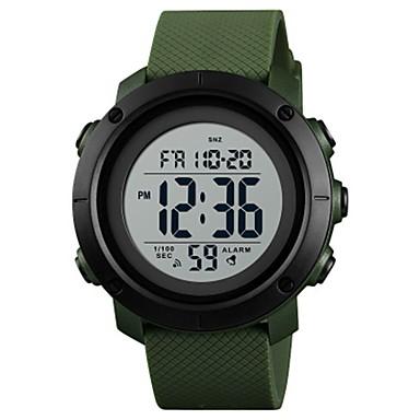 זול שעוני גברים-SKMEI בגדי ריקוד גברים לזוג שעוני ספורט שעון דיגיטלי דיגיטלי דמוי עור מרופד שחור / תלתן 50 m עמיד במים כרונוגרף שעון עצר דיגיטלי יום יומי אופנתי - ירוק בהיר שחור / לבן ירוק כהה