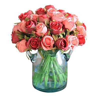 زهور اصطناعية 12 فرع كلاسيكي فردي أنيق النمط الرعوي الورود أزهار الطاولة