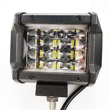 voordelige Motorverlichting-nieuwe 6d lens 12w atv werkende voertuigtechniek vrachtwagen 6000k geleid werk licht wit