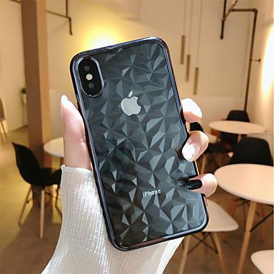 ケース 用途 Apple iPhone X / iPhone 8 Plus メッキ仕上げ / クリア バックカバー 幾何学模様 ソフト TPU のために iPhone X / iPhone 8 Plus / iPhone 8