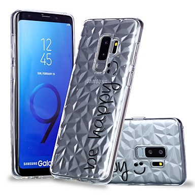 voordelige Galaxy S-serie hoesjes / covers-hoesje Voor Samsung Galaxy S9 / S9 Plus / S8 Plus Transparant / Patroon Achterkant Woord / tekst Zacht TPU