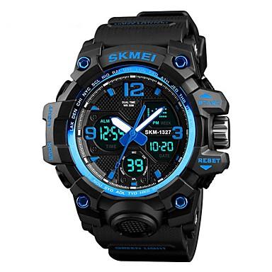 SKMEI رجالي ساعة رياضية ساعة رقمية رقمي جلد اصطناعي أسود / أخضر / كاكي 50 m مقاوم للماء رزنامه الكرونوغراف رقمي كاجوال موضة - أخضر أزرق كاكي / ساعة التوقف