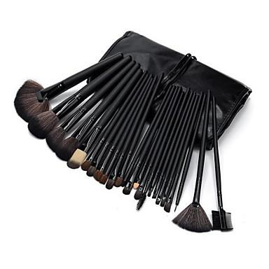 32pcs Makyaj fırçaları Profesyonel Makyaj Fırça Seti Midilli Atı Fırça / Sentetik Saç / At Bakterileri Kısıtlar / Suni Fibre Fırça