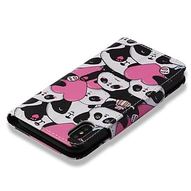 iPhone 06878492 Porta supporto Per per Con 8 Custodia Panda Apple carte Con sintetica X iPhone portafoglio 8 8 Plus Integrale Resistente X Plus di iPhone pelle iPhone iPhone cuori A credito zwqgwA