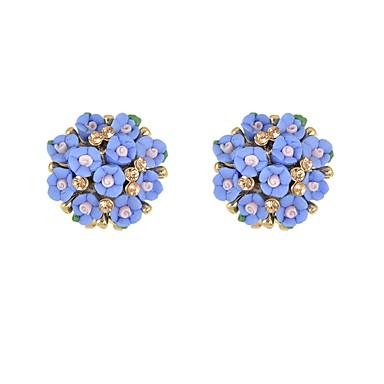 ieftine Cercei-Pentru femei Cristal Cercei Stud Stl Floare Norocos femei De Bază Modă cercei Bijuterii Alb / Albastru / Roz Pentru Zilnic Dată 1 Pair