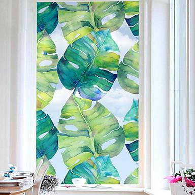 فيلم نافذة وملصقات زخرفة معاصر / العادي وردة PVC ملصقات مصقولة / ملصق النافذة