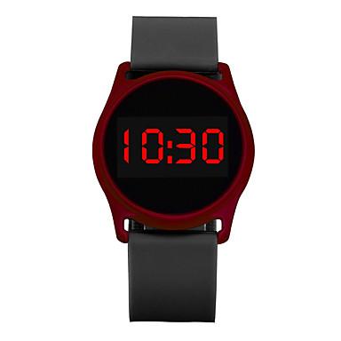 levne Pánské-Pánské Dámské Sportovní hodinky Náramkové hodinky Digitální hodinky Digitální Silikon Černá / Modrá / Rose 30 m Chronograf LCD Hodinky na běžné nošení Digitální Na běžné nošení Minimalistické - Čern