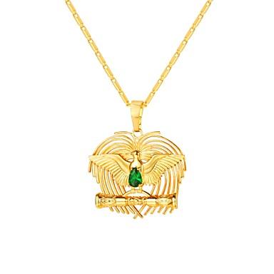 preiswerte Halsketten-Damen Kubikzirkonia Pendant Halskette Solitär Vogel damas Modisch Kupfer Gold 55 cm Modische Halsketten Schmuck 1pc Für Geschenk Alltag