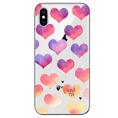 Plus Per cuori iPhone 8 Con Apple Transparente 8 iPhone X per Per iPhone TPU iPhone Morbido disegno X 8 iPhone 06878435 retro Custodia Fantasia R4FUqX