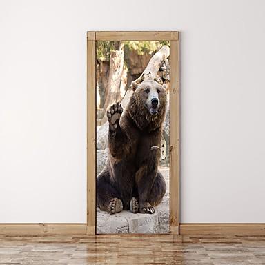ملصقات الباب - لواصق / ملصقات الحائط الحيوان حيوانات / أشكال حضانة / غرفة الأطفال