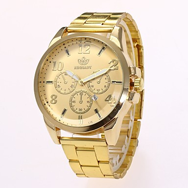 זול שעוני גברים-בגדי ריקוד גברים שעוני שמלה שעון יד שעון תעופה קווארץ זהב עיצוב חדש שעונים יום יומיים אנלוגי קלסי יום יומי אופנתי אריסטו - זהב שחור שנה אחת חיי סוללה