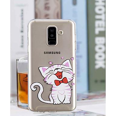 غطاء من أجل Samsung Galaxy A6 (2018) / A6+ (2018) / A3 (2017) شفاف / نموذج غطاء خلفي قطة ناعم TPU