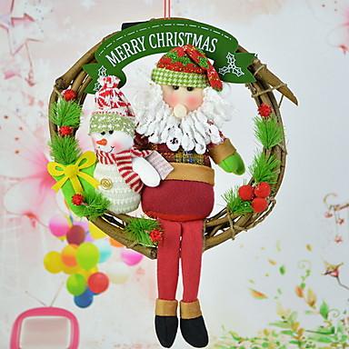 عيد الميلاد الحلي عطلة نسيج القطن دائري حداثة زينة عيد الميلاد