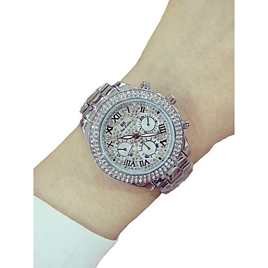 e6e679f58d7 Dame Luksus Ure Armbåndsur Diamond Watch Quartz Sølv / Guld / Rose Guld  Kronograf Selvlysende Imiteret