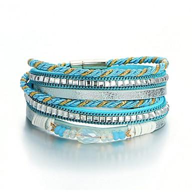 نسائي أساور التفاف قديم الوشاح سيدات موضة نمط الشعبية حجر مجوهرات سوار أزرق من أجل مناسب للبس اليومي