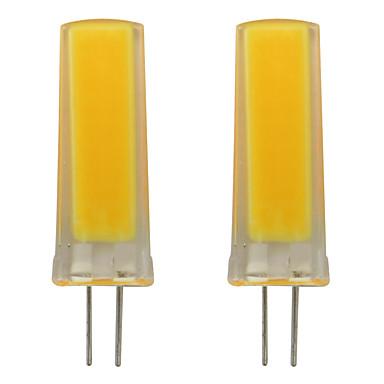 3w الصمام لمبة g4 ثنائية دبوس سيليكون الأضواء smd 0930 cob المنزل الإضاءة الثريا ac 120 فولت دافئ / الباردة الأبيض (2 قطع)