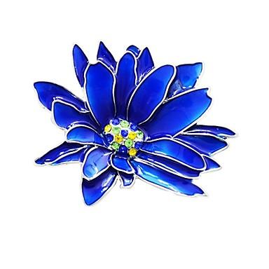 Жен. Броши Стильные Цветы Дамы Стиль Классика Брошь Бижутерия Синий Назначение Повседневные