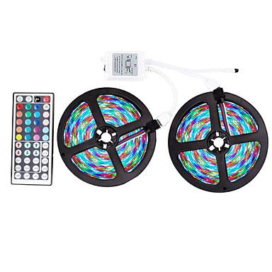 billige LED & Belysning-ZDM® 2x5M Lyssæt / RGB-Lysstriber 600 lysdioder SMD 2835 / 2835 SMD 1 44Køler fjernbetjening RGB Chippable / Fest / Dekorativ 12 V 1set / IP65 / Selvklæbende