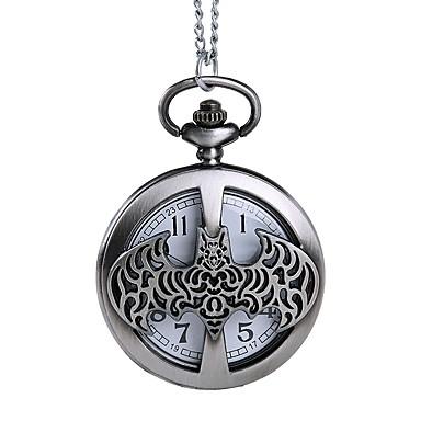 رجالي ساعة جيب كوارتز فضة نقش جوفاء مماثل موضة هيكل عظمي - رمادي / فضي
