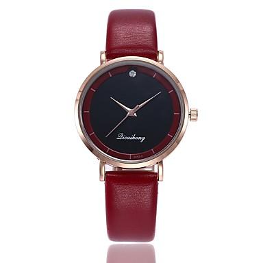 نسائي ساعة المعصم كوارتز جلد اصطناعي أسود / الأبيض / أحمر تصميم جديد ساعة كاجوال مماثل سيدات كاجوال موضة - أحمر أخضر زهري سنة واحدة عمر البطارية