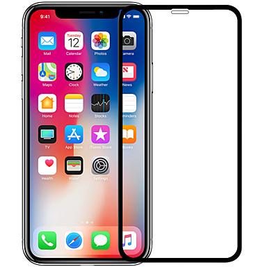 voordelige iPhone X screenprotectors-nillkin screen protector voor apple iphone x gehard glas 1 stuk full body screen protector high definition (hd) / 9h hardheid / explosiebestendig