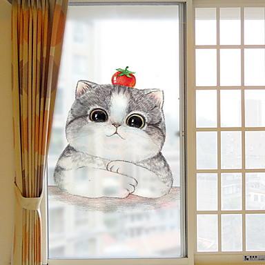 فيلم نافذة وملصقات زخرفة العادي شخصية PVC ملصق النافذة