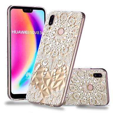 غطاء من أجل Huawei Huawei P20 / Huawei P20 Pro / Huawei P20 lite شفاف / نموذج غطاء خلفي ماندالا نمط / الطباعة الدانتيل ناعم TPU