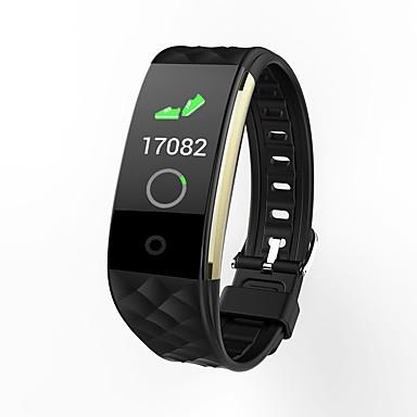 BoZhuo S2 plus للجنسين سوار الذكية Android iOS بلوتوث رياضات ضد الماء رصد معدل ضربات القلب رمادي داكن الجامعة، المشي عداد الخطى تذكرة بالاتصال متتبع النوم تذكير المستقرة / أجد هاتفي / ساعة منبهة