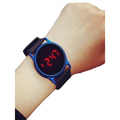 Недорогие Женские часы-Муж. Жен. Спортивные часы Наручные часы электронные часы Цифровой силиконовый Черный / Синий / Роуз 30 m Секундомер ЖК экран Повседневные часы Цифровой На каждый день минималист -  / Два года