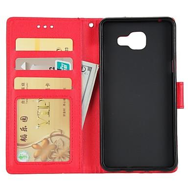 غطاء من أجل Samsung Galaxy A3 (2017) / A5 (2017) / A7 (2017) محفظة / حامل البطاقات / مع حامل غطاء كامل للجسم لون سادة قاسي جلد PU
